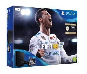 Sony PS4 PlayStation 4 1TB 2 Pady + FIFA 2018